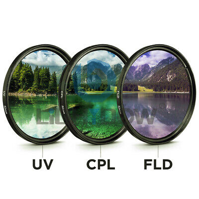 3 in 1 UV/CPL/FLD 67mm Professional Glass Filter Kit Camera Lens Filters Set