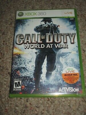 Call of Duty: World at War (Microsoft Xbox 360, 2008) NEW Sealed Original