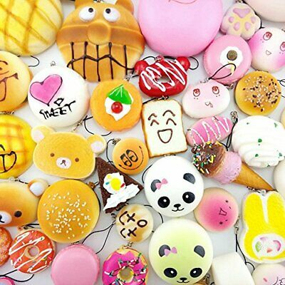 Techcll Random 20pcs Jumbo Medium Mini Slow Rising Kawaii Squishy Cake/Panda/B..