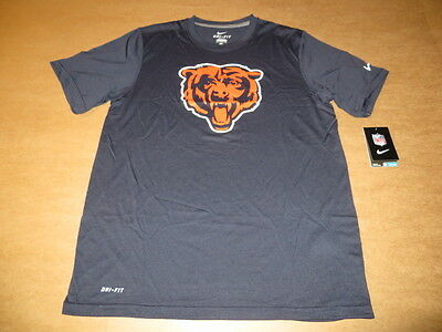 Chicago Bears Logo Essential NFL Men s DRI FIT Navy Blue T-Shirt by Nike NEW 31af1a9f3