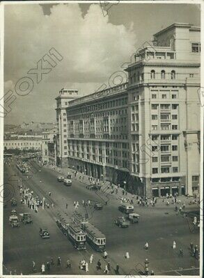 1942 St Petersburg Russia Hotel Moscow & Trolley Lines Press Photo