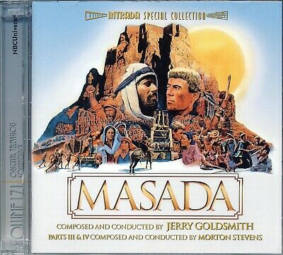 """Jerry Goldsmith """"MASADA"""" score Intrada 5000 Limited Edition 2CD SEALED Sold Out"""
