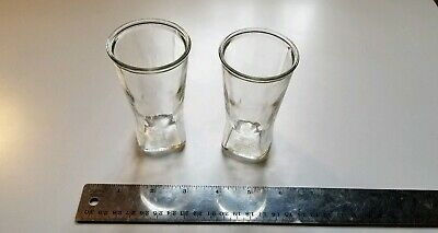 "2 Vintage large double Shot glasses 4""x 2"" great condition Shipped securely!"