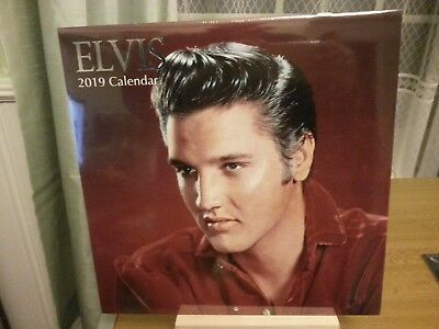 Elvis Presley - 2019 Wall Calendar- Rare !! - New Sealed.....£5.95 !  Freepost