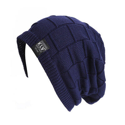Fashion Adult Soft Ski Cap Winter Knit Warm Beanies Hat Thick Outdoor Sports CB