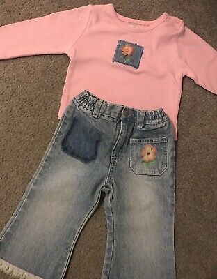 NWT girls size 6 9 12 18 24 months TCP reindeer /& elf aqua top /& denim jeggings!