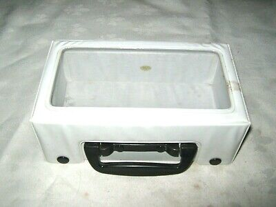 Vintage Retro Vinyl Cassette Tape Storage Carry Case