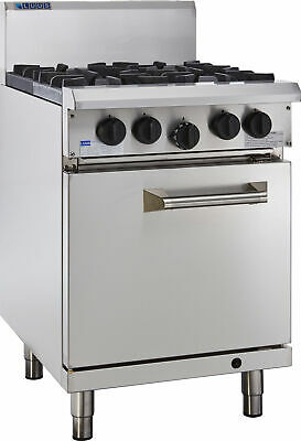 LUUS Professional 4 Burner & Oven W/ Pilots & Flame Failure RS-4B-P NG