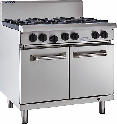 LUUS Professional 6 Burner & Oven W/ Pilots & Flame Failure RS-6B-P NG