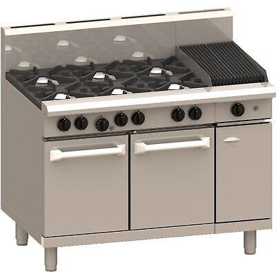 LUUS Professional 6 Burner 300mm Chargrill & Oven Pilots Flame Fail RS-6B3C-P NG