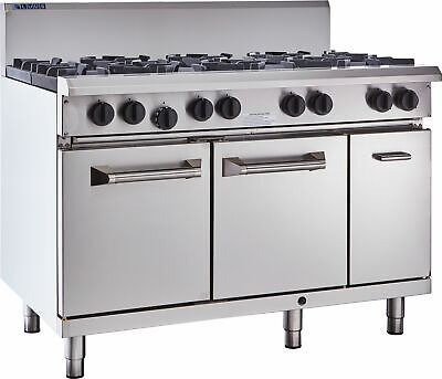 LUUS Professional 8 Burner & Oven W/ Pilots & Flame Failure RS-8B-P NG