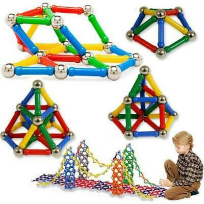 206pcs Magnetic Toys Building Blocks Set 3D Tiles DIY Toys Great Gifts Kids US