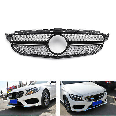 New Front Diamond Kühlergrill Für Benz W205 C Class C250 C300 C400 2015-2018 T4