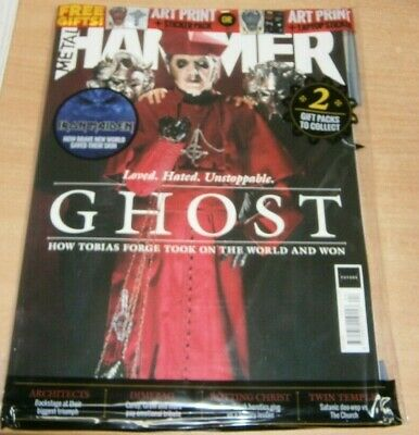 Metal Hammer magazine #320 2019 Ghost Tobias Forge + Iron Maiden & Art Print