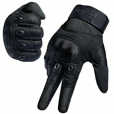 FREETOO Tactical Gloves Army Military Police Rubber Knuckle Outdoor Gloves
