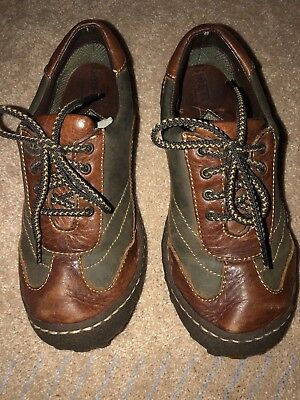05beb18b922b16 BORN Women s Size 7.5 Dual Tone   Texture Brown Leather Sturdy Casual  Oxfords