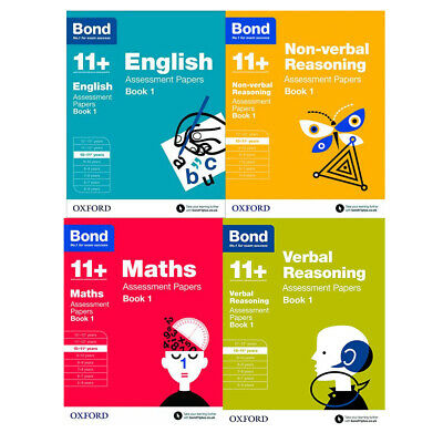 Bond 11+( Assessment Paper) 4 Books Collection English Non-verbal Reasoning Set