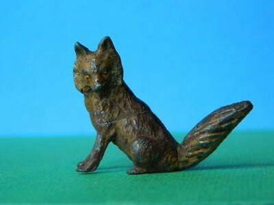 GEORG HEYDE VINTAGE PRE WAR 1930s HOLLOW CAST COLD PAINTED LEAD SITTING FOX