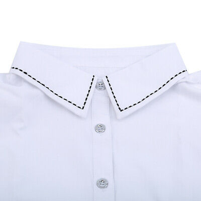 Women Girl Dotted Edge Fake False Collar Detachable Half Shirt Fake Collar CB