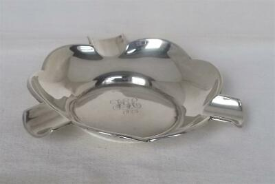 A Superb Antique Solid Sterling Silver Ashtray Birmingham 1922 Deakin & Francis.