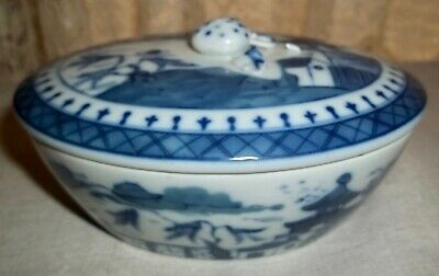 Mottahedeh BLUE CANTON Covered Oval Dish