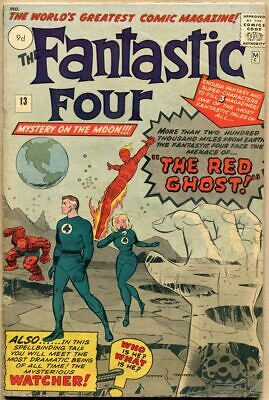 Fantastic Four #13 - G/VG - 1st Appearance Of The Watcher