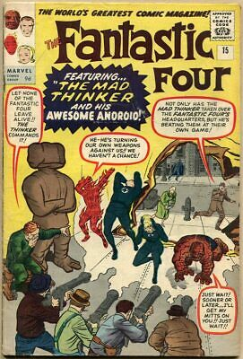 Fantastic Four #15 - FR - 1st Appearance Of The Mad Thinker