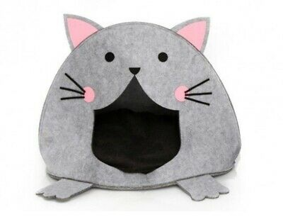 Cat Shaped Pet House - Cute Fun Design Sleeping Bed - Cosy Kennel
