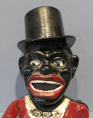 "Guaranteed Old Orig. Jolly "" "" Mechanical Bank With Top Hat~ A Happy Guy  Bk728"