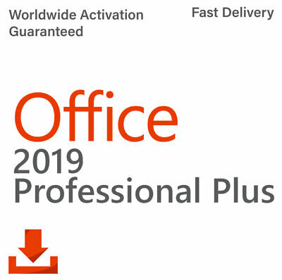 Microsoft Office Professional Plus 2019 32/64Bit Genuine License Key for PC
