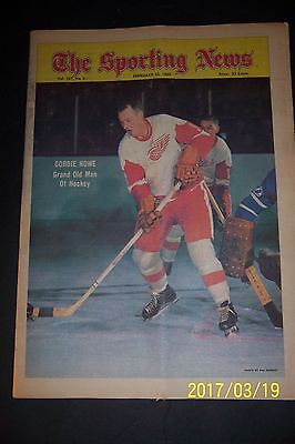 1969 Sporting News DETROIT RED WINGS Gordie HOWE No Label NHL's GRAND OLD MAN