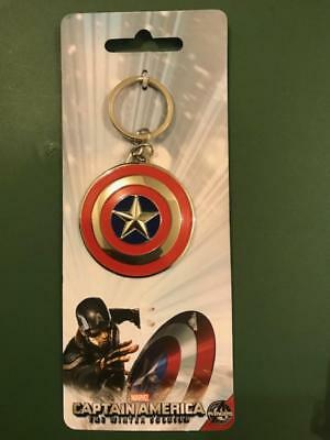 Marvel Captain America the Winter Soldier Shield Key Ring Key Chain NEW