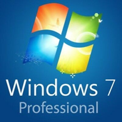 Windows 7 Pro Professional 32/64 Bit Key Originale Esd
