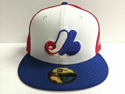 0a55987282f MONTREAL EXPOS NEW Era 59Fifty Cap Flat Brim Cooperstown Wool Fitted ...