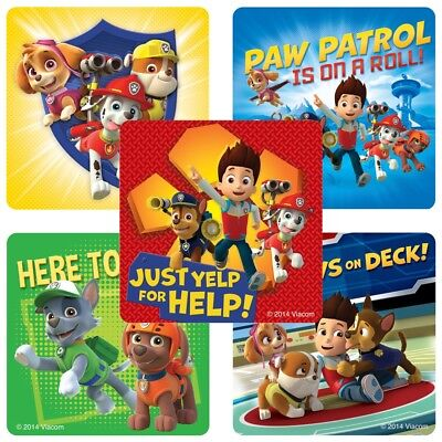 20 Paw Patrol STICKERS Party Favors Supplies Birthday Treat Loot Bags Teacher