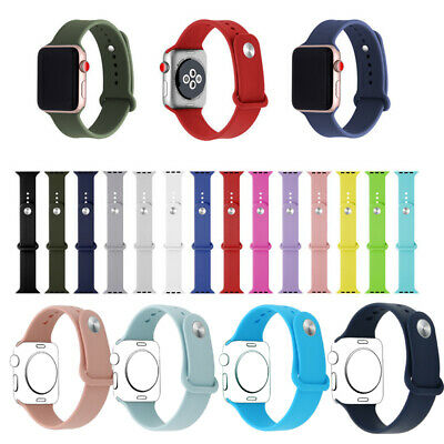 Sports Silicone Bracelet Strap Band Apple Watch iWatch Series 4/3/2/1 38MM 42MM