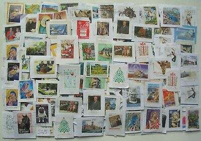Australia Kiloware approx 450gm used decimal stamps,up to 65c value on paper.