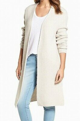 1f5d416439e1 Halogen NEW Beige Women s Size Small S Long Ribbed Open-Front Cardigan  89   131