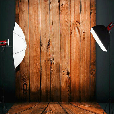 1*1.5M/1.5*2.1M Wood Color Floor Wall Photography Background Cloth Backdr ES