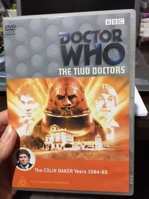 Dr Who The Two Doctors (The Colin Baker Years 1984-1986) 2 discs VGC