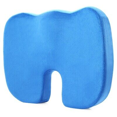 Coccyx Orthopedic Pure Memory Foam Seat Cushion for Chair Car Office