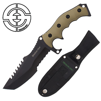 """11"""" TACTICAL Rambo Army SURVIVAL FIXED BLADE KNIFE Bowie w/SHEATH by Shadow Ops®"""