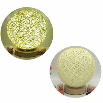 Rattan Ball Night Light Home Decor Table Lamp Romantic Bedroom Night Lamp☼★