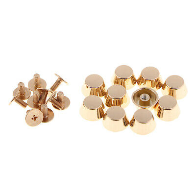 10pcs Brass Screwback Feet Screw Head Purse Handbag Nailhead Stud Spike Spot