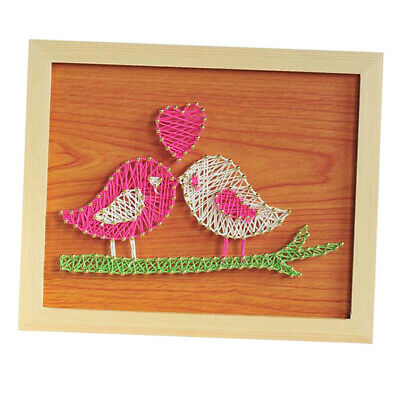 Two Birds Vintage String Art Kits for Adults Craft Nail Painting Wall Decor