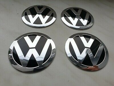 ☆ 4 LOGO EMBLÈME VW  56mm badge autocollants Stickers jante tuning 57 Volkswagen