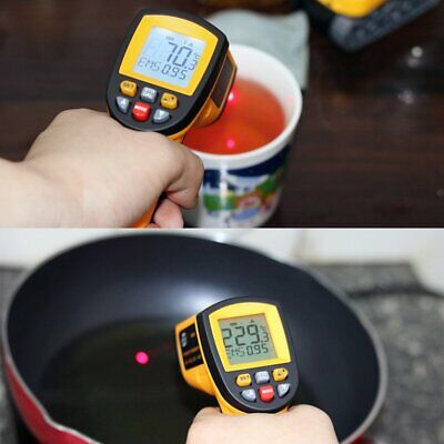 Non-Contact Laser LCD Display Infrared Digital Surface Temperature Thermometer☼★