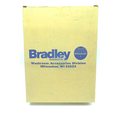 Bradley 4721-150000 Inox Serviette / Élimination Partition Mural Trash Pot