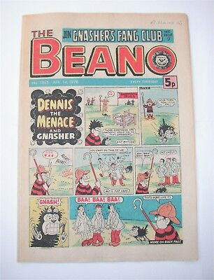Vintage Beano Comic No.1863 April 1st, 1978  – 40 years old! Top Birthday Gift!