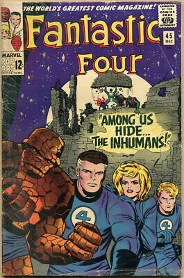 Fantastic Four #45 - G/VG - 1st Appearance Of The Inhumans